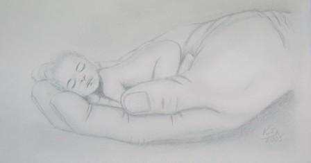 Baby in der Hand
