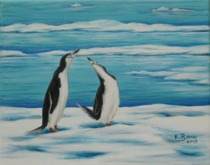 Begrüßung der Pinguine