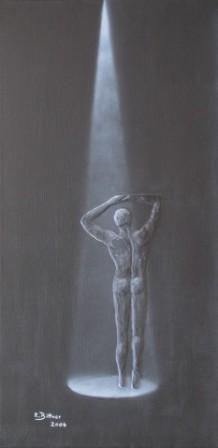 Tanzender Mann in Schwarz