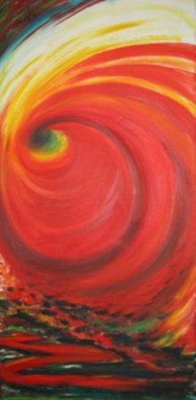 Rot Abstrakt I