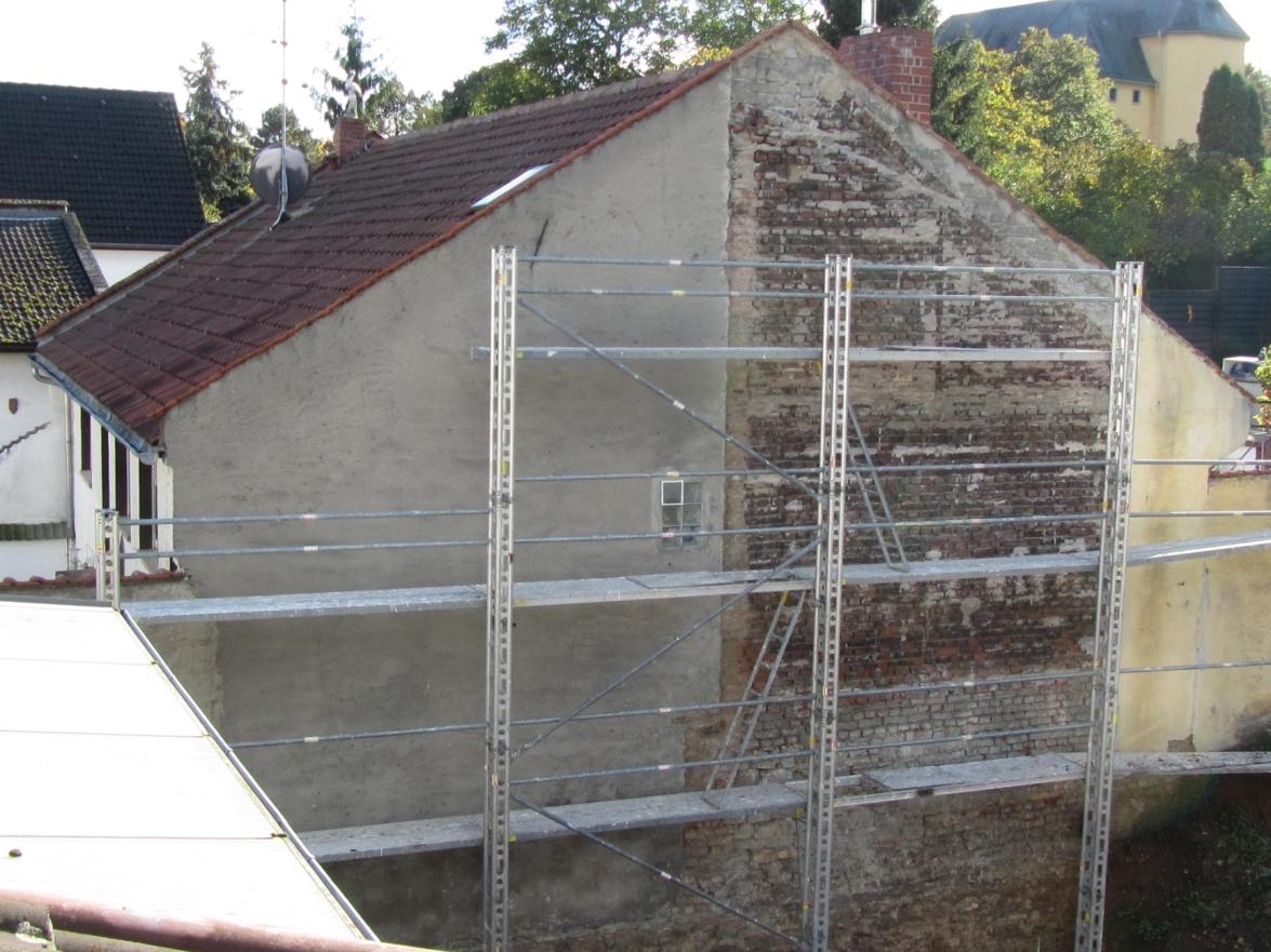 Wand vor dem Verputzen